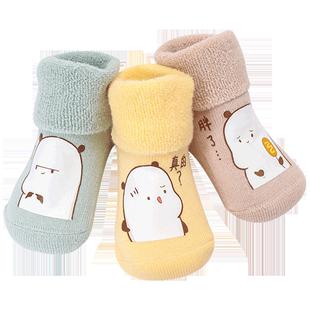 秋冬纯棉0-3-6个新生儿宝宝岁袜子