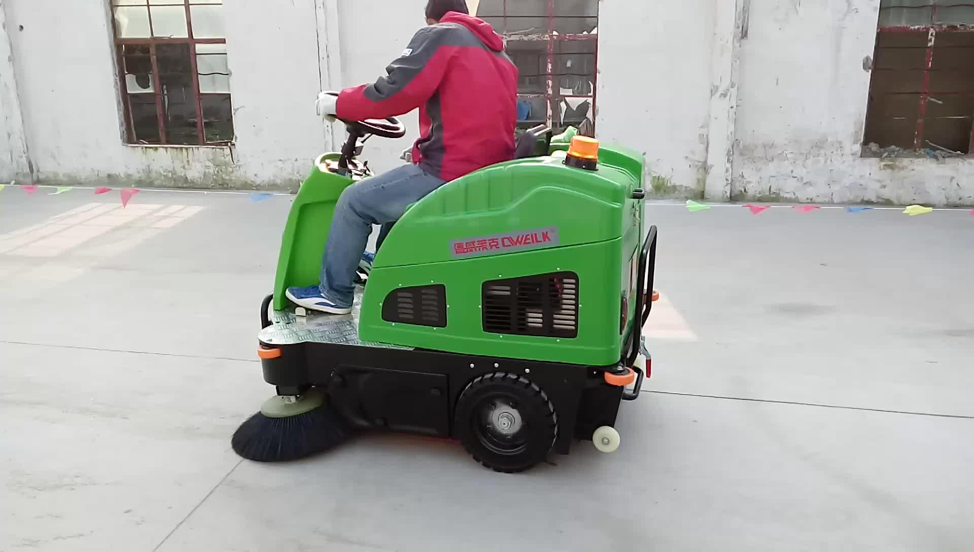 Elektrische Kehrmaschinenbodenreinigungsmaschine / Kehrmaschine mit Stahlbürste / elektrische Straßenkehrmaschine