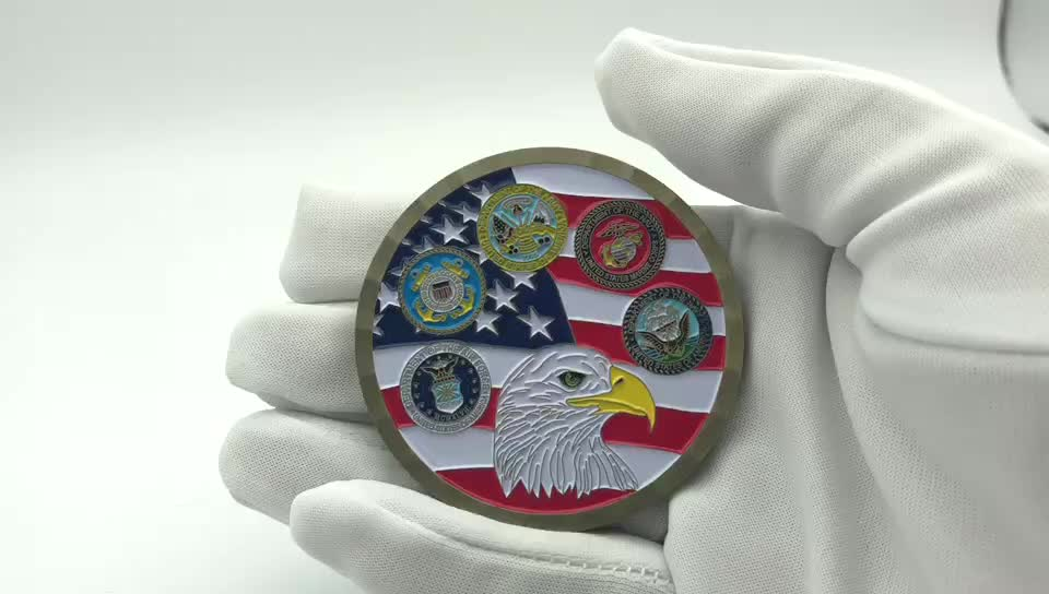 Cheap customized veterans metal souvenir challenge coin