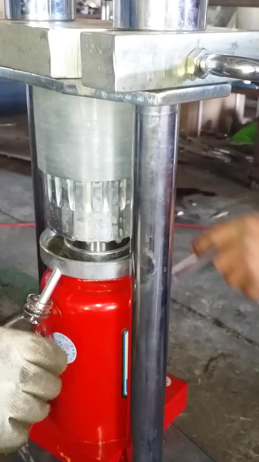 Manual hydraulic mini cold press neem coconut oil making machine