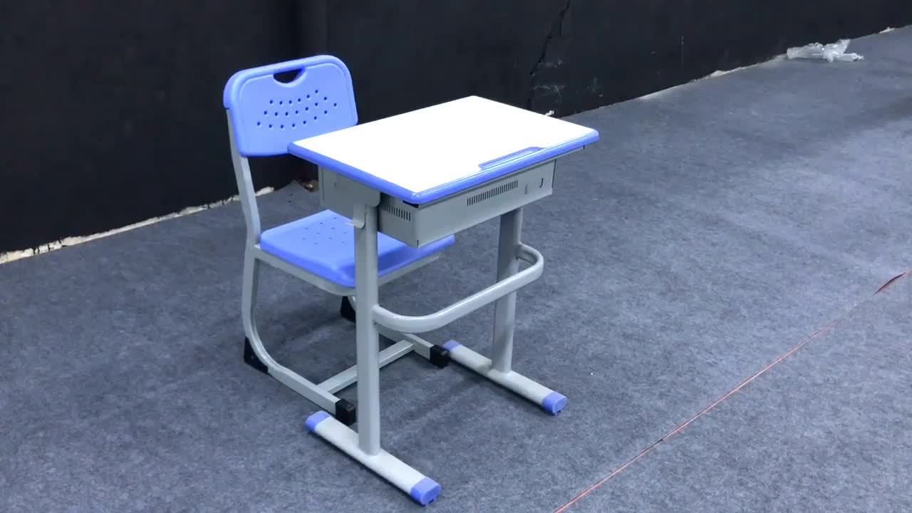 Furniture classroom steel frame student desks and chairs for sale