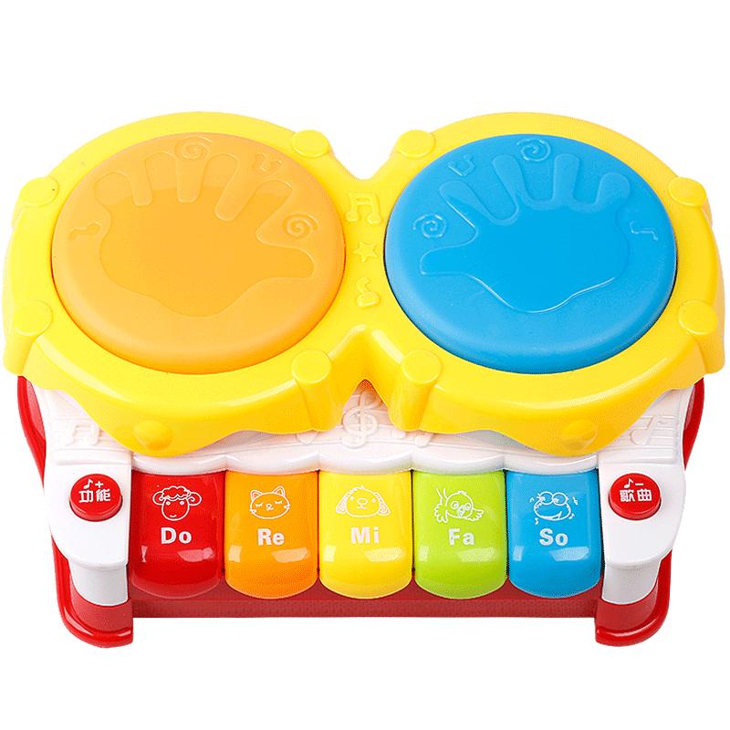 贝恩施宝宝手拍鼓音乐益智玩具