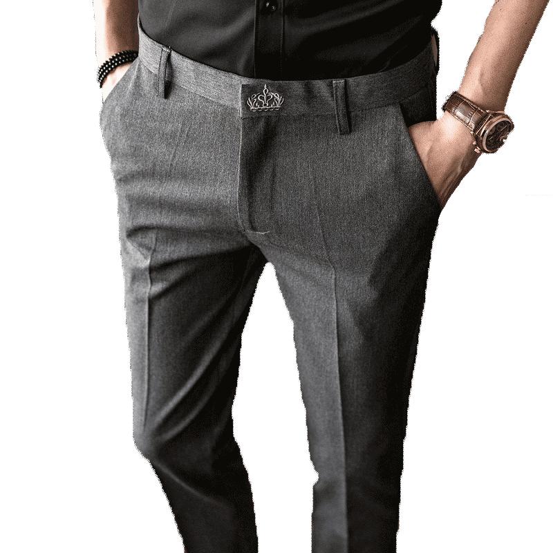 夏季男士修身西裤如何搭配上衣:男生正装搭的鞋