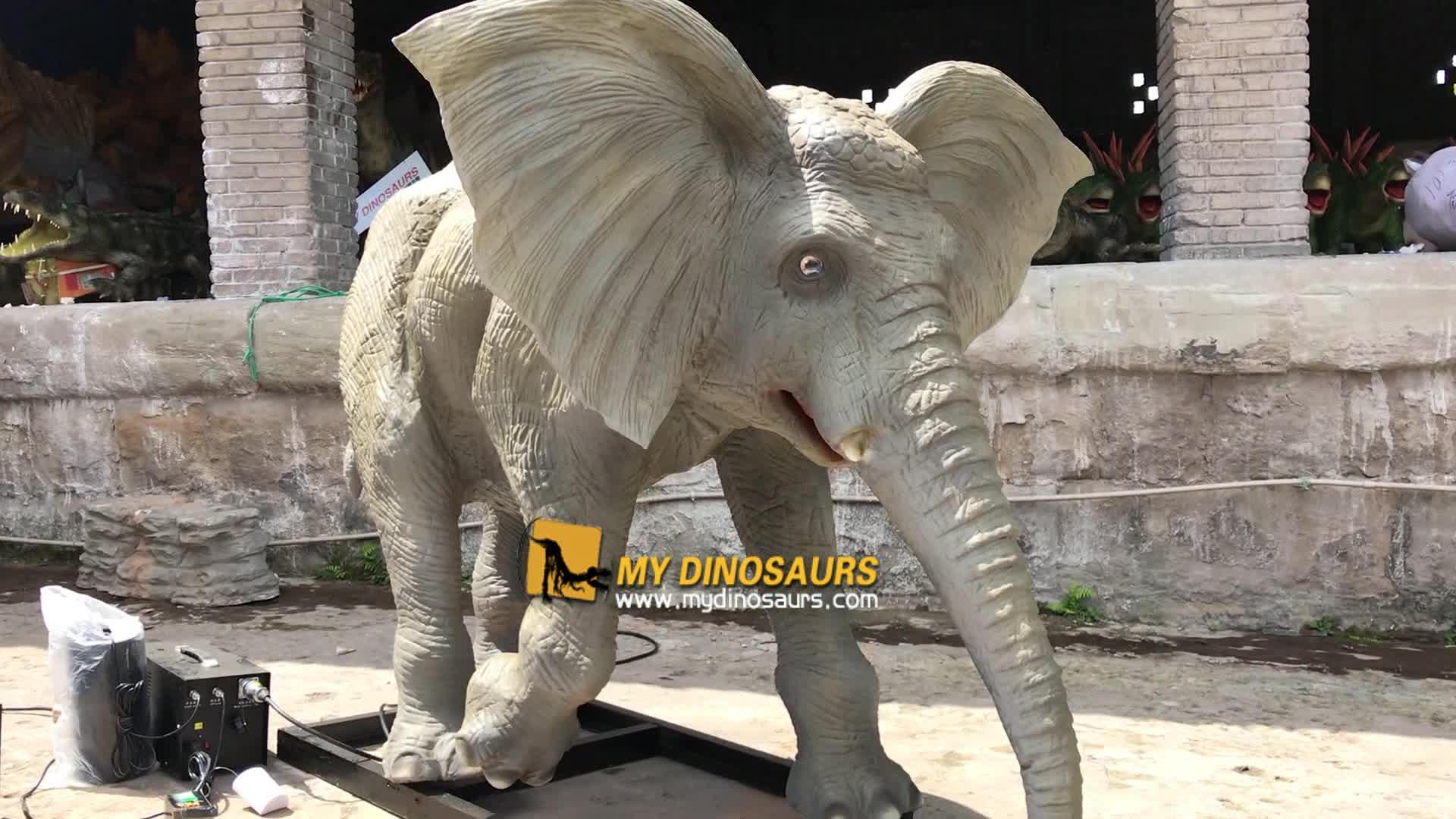 My-dino electric animals elephant figurines for zoo