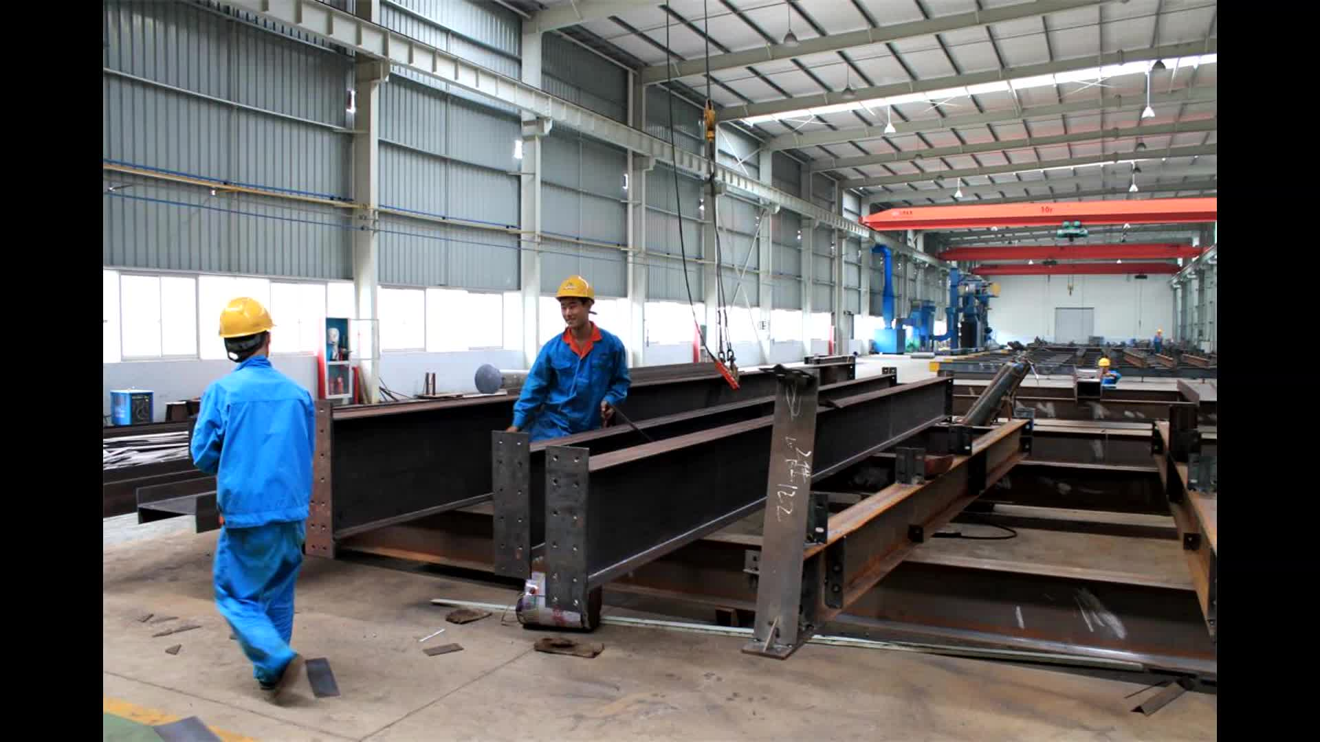Light modern design prefabricated steel structure building prefab