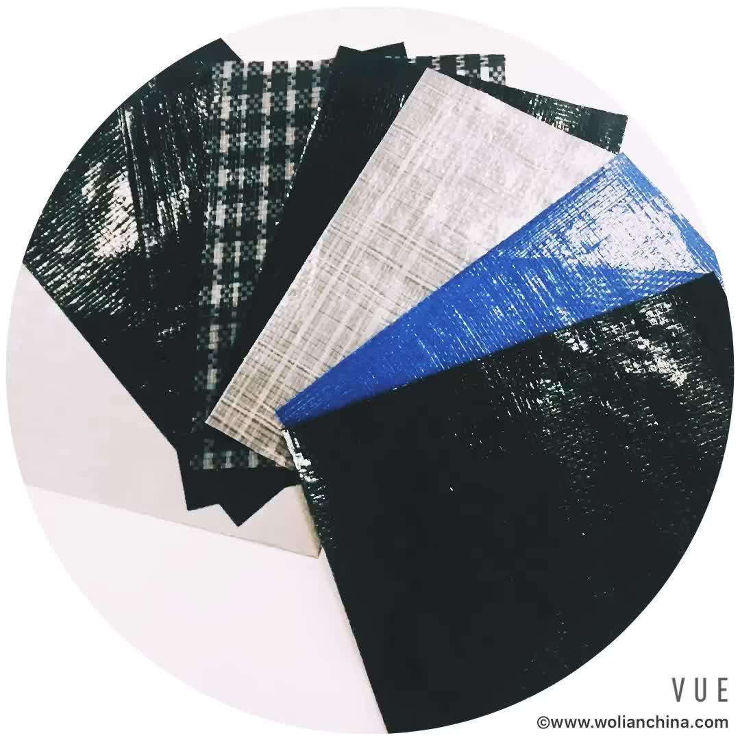 PE Telone di colore bianco e nero 150g/sqm per il Vietnam mercato