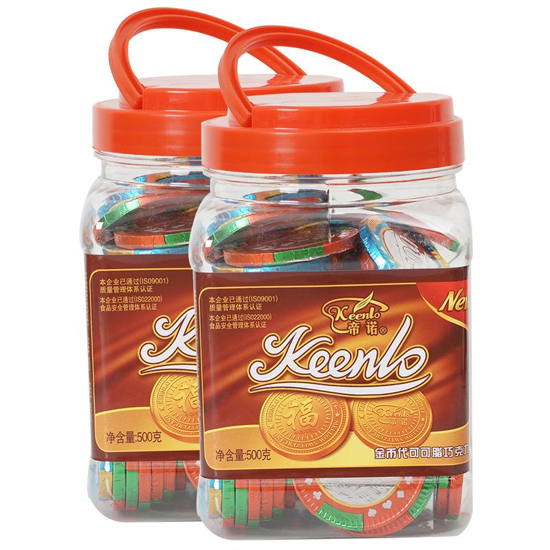 帝诺500g /桶约60枚8克筹码巧克力