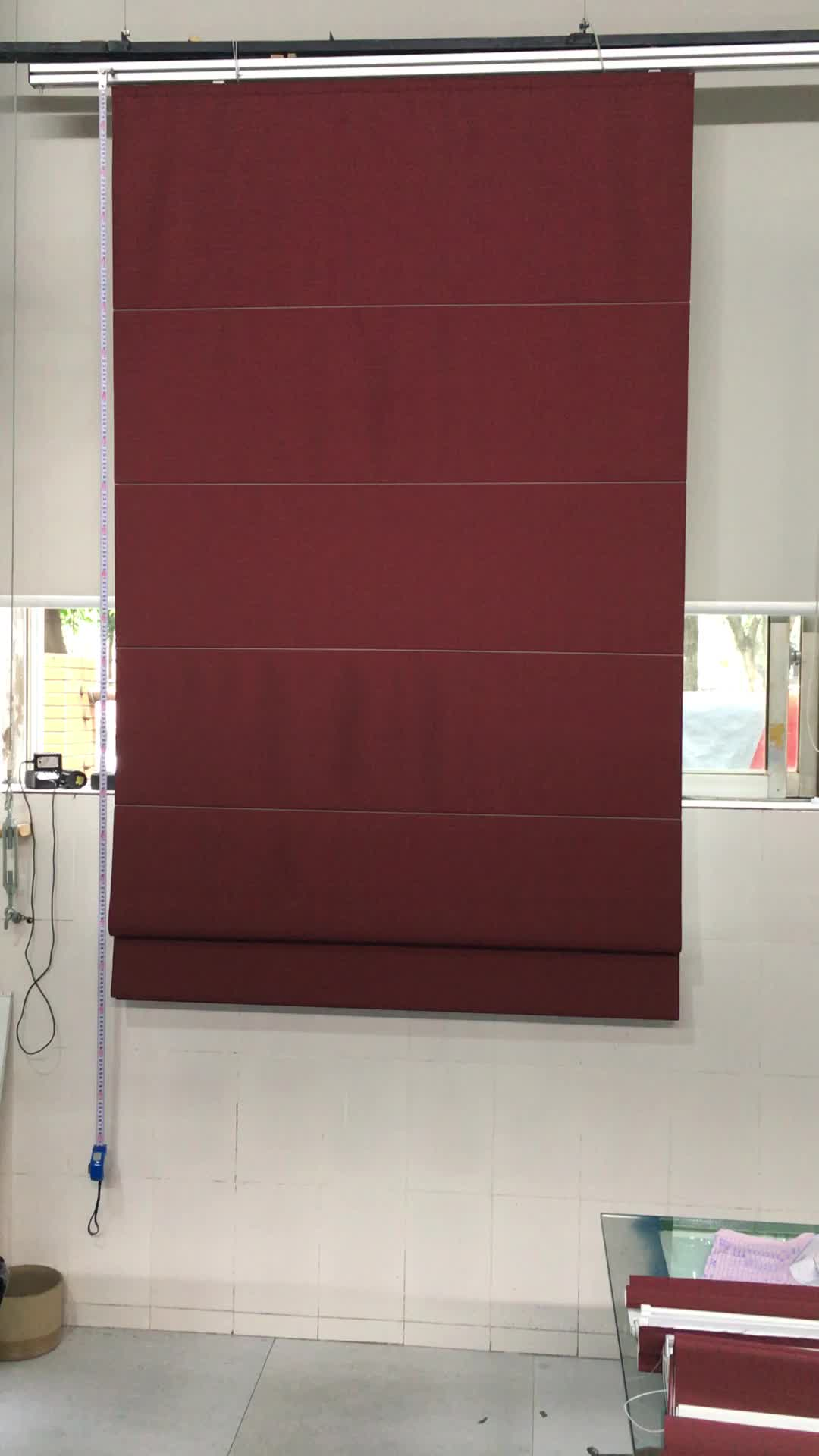 New Style Manual Or Motorized Blackout Roman Blinds Buy