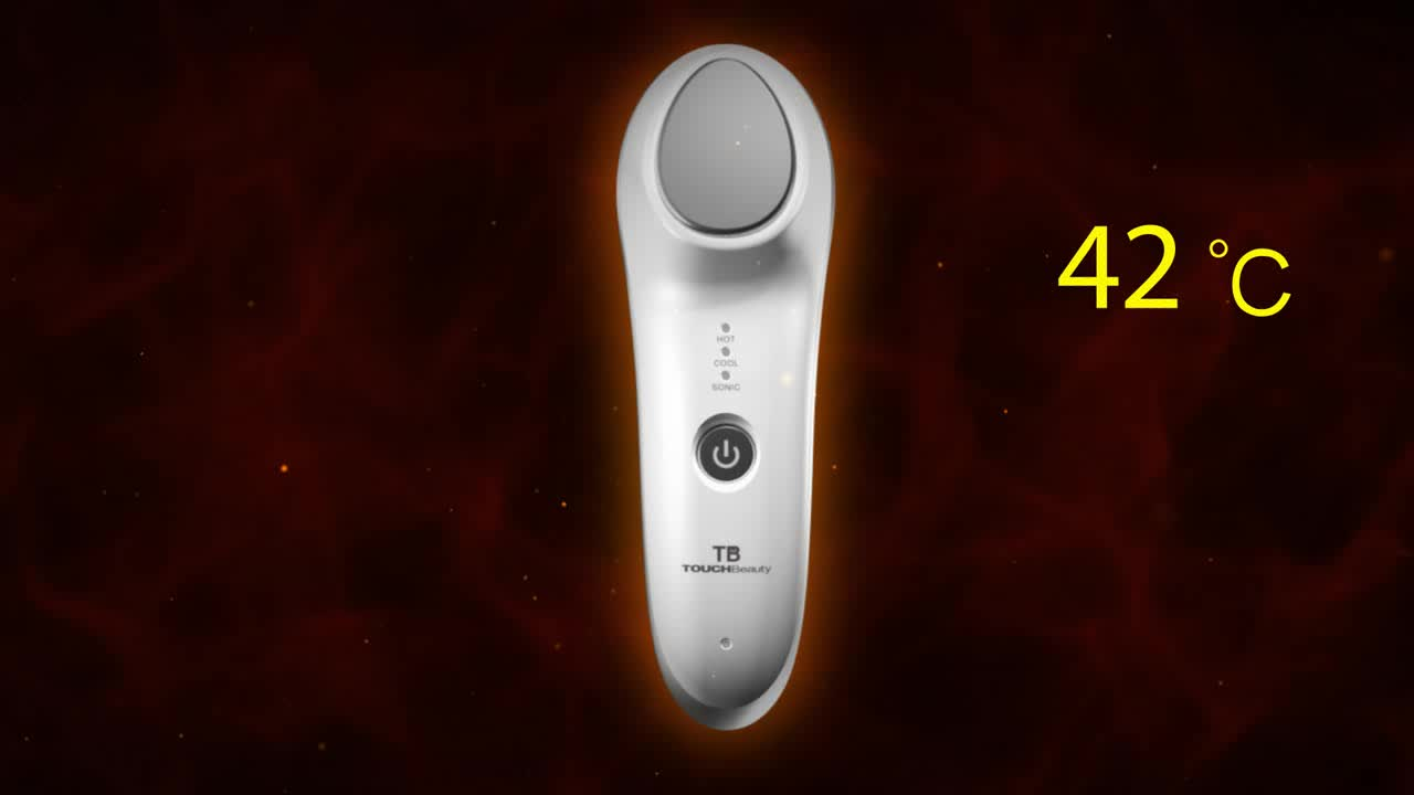 Rechargeable Hot Cool Small Hand Held Vibrator For Skin Rejuvenation