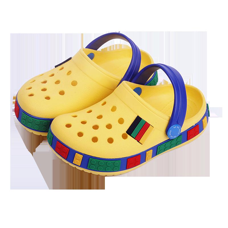 儿童拖鞋夏1-3岁5宝宝洞洞鞋男童女童沙滩鞋防滑软底婴幼儿凉拖鞋
