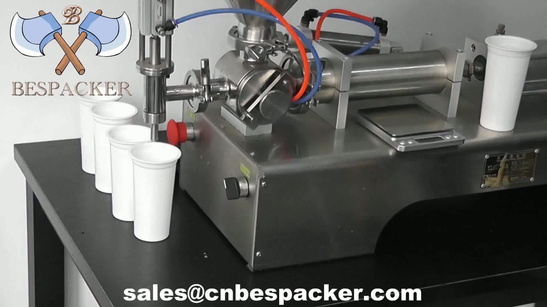 Bespacker полуавтоматическая бутылка для лосьона косметический наполнитель для напитков воды медовый крем поршневая паста машина для розлива жидкости