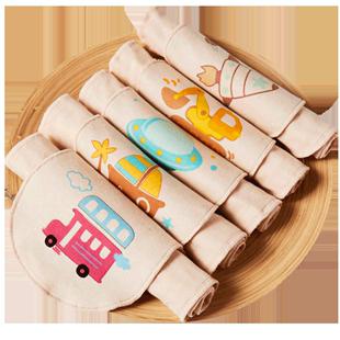 婴儿吸汗巾纯棉宝宝幼儿园小孩毛巾