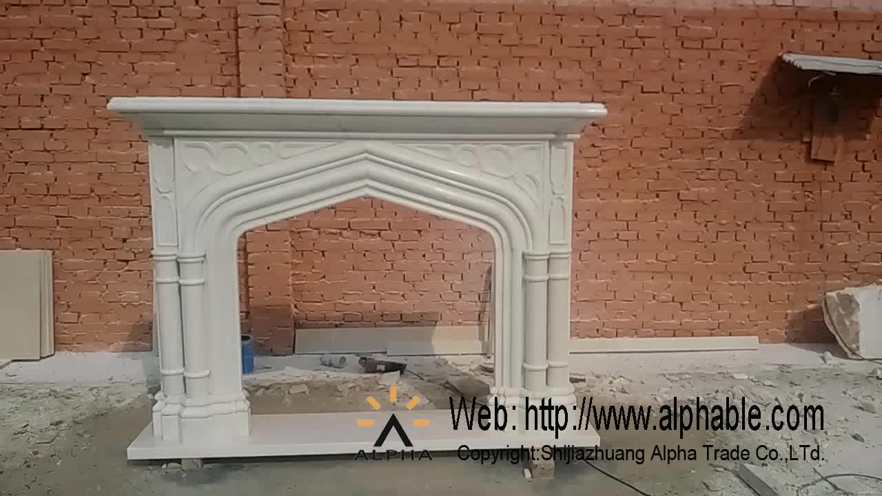 Hot sale decorative marble fireplace mantel buy marble for Marble mantels for sale