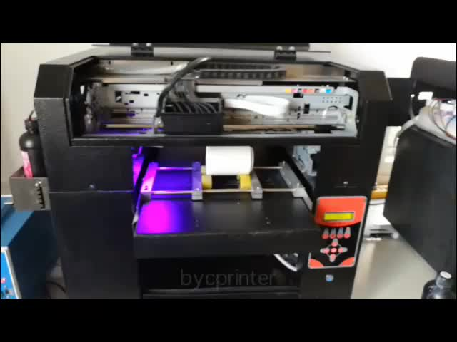 BYC 6 color channels a3 size UV led light digital printing machine flatbed printer