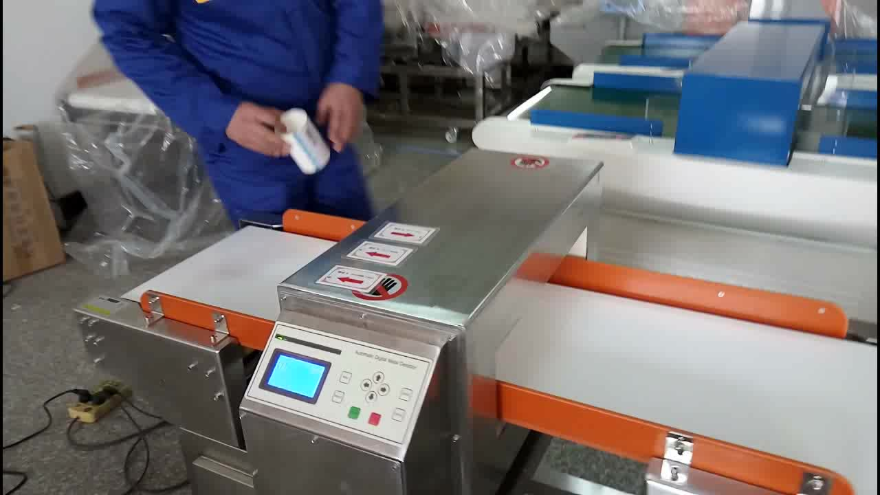 Conveyor belt metal detector for plastic recycling spices brass detection product
