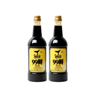 食圣99鲜酱香1l*2瓶家用特级生抽
