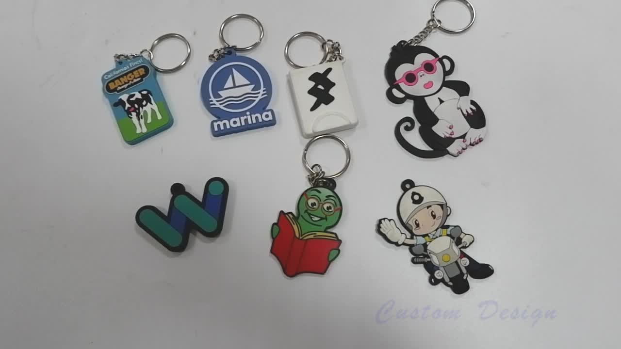 Promotional cheap custom 2d pvc rubber keychain 3d pvc silicone keychain