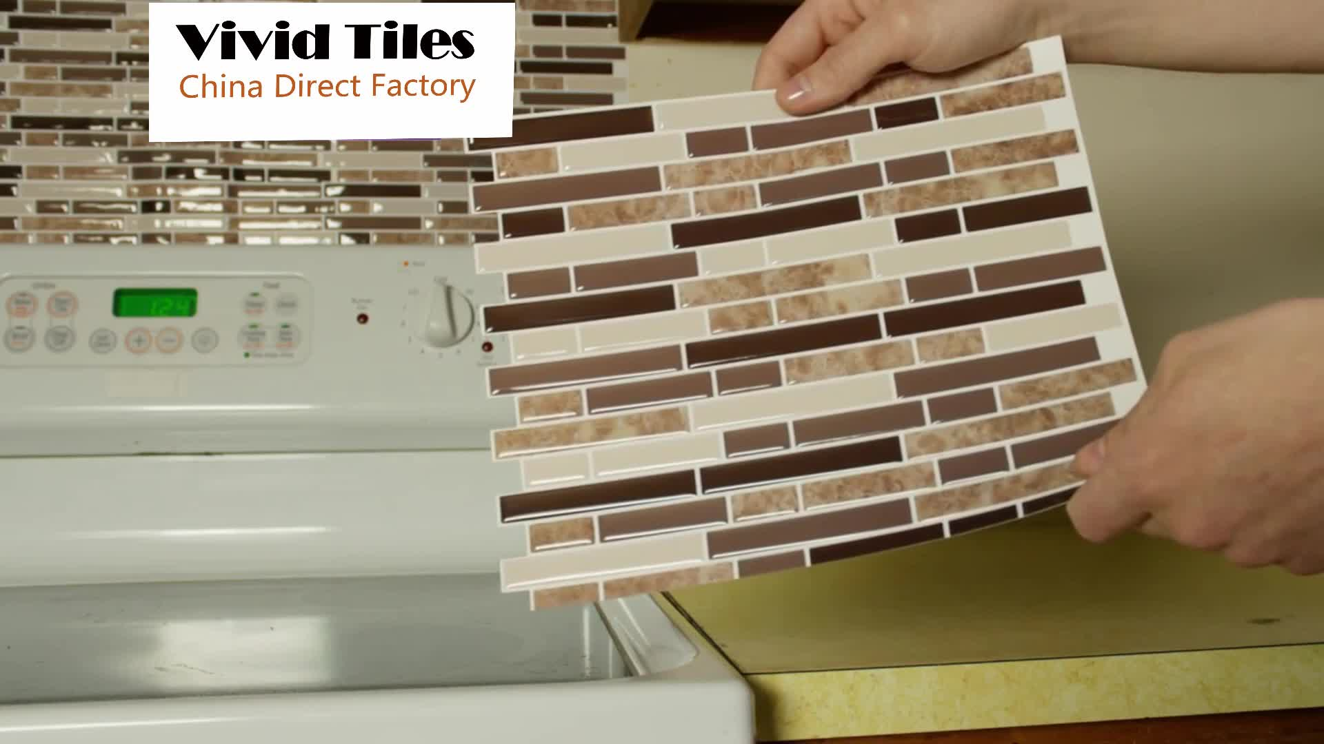 stick on tiles for kitchen walls 3d self adhesive peel amp stick wallpaper ceramic mosaic 9435