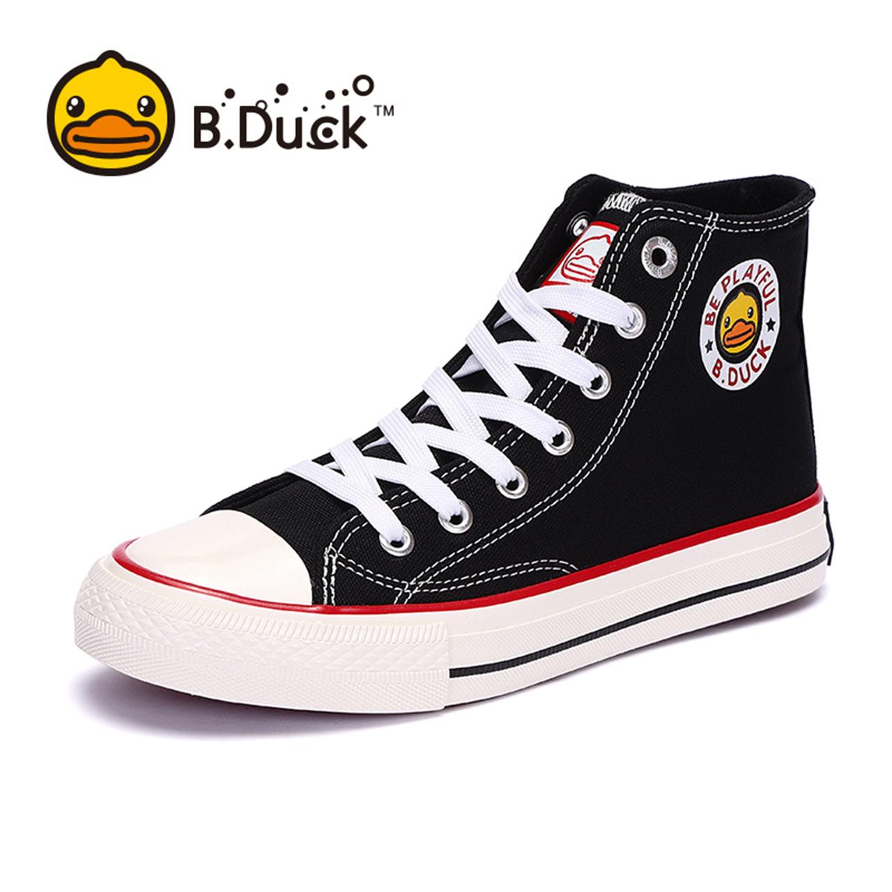 b . duck小黄鸭高帮帆布鞋百搭女鞋好不好用