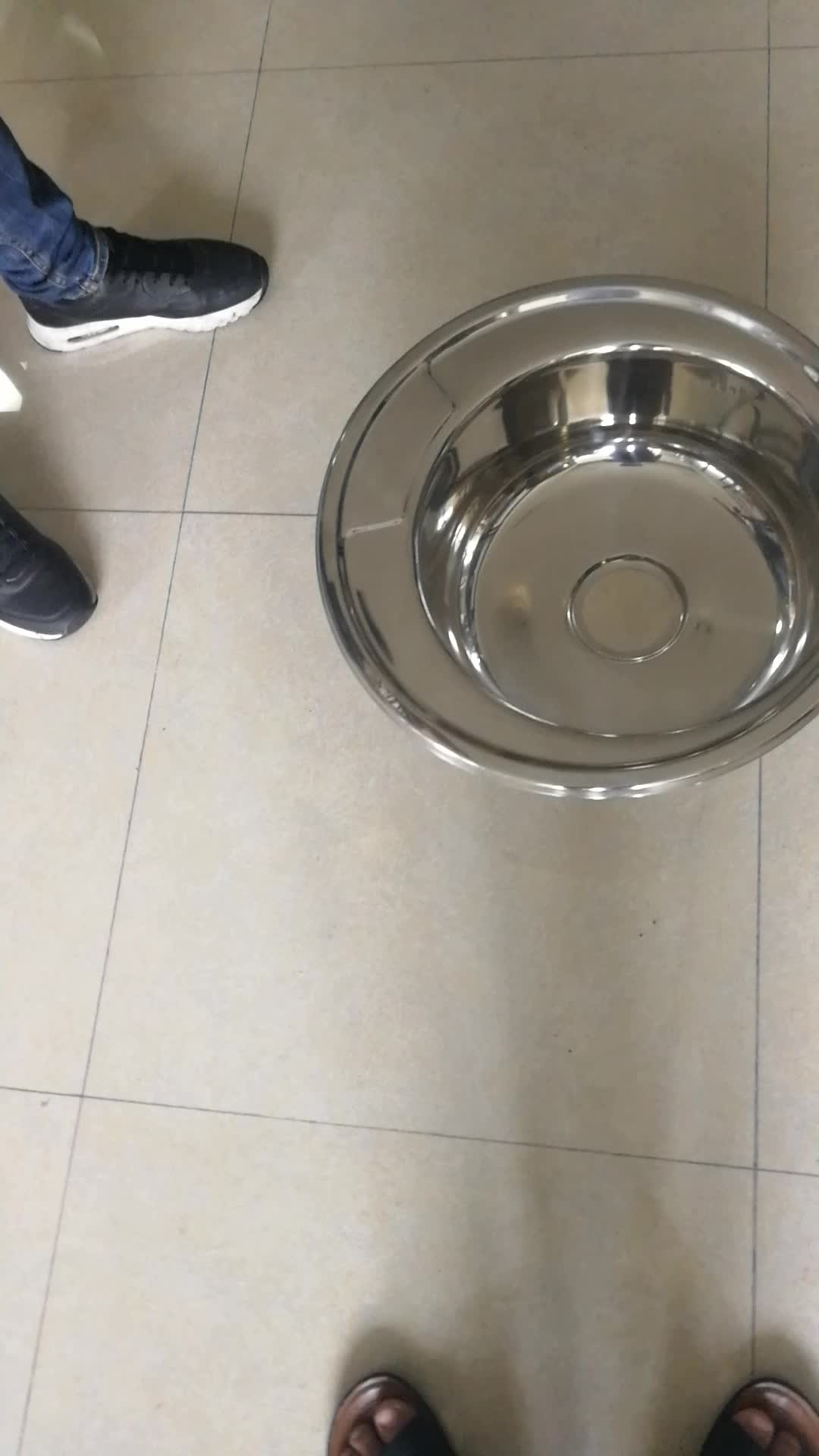 East Europe Market Top Mount Round Stainless Steel Kitchen