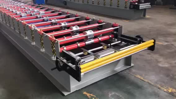 Color Steel Coil Roll Forming Machine Metal Roof Tile Roll