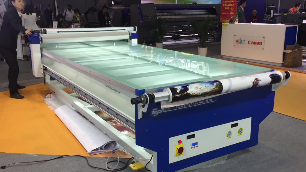 Tempered glass laminating machine for advertising industry