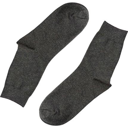 中筒防臭吸汗黑色秋冬季长绒棉长袜