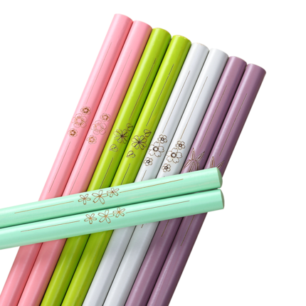 天竹家用竹子高档天然日式5双竹筷