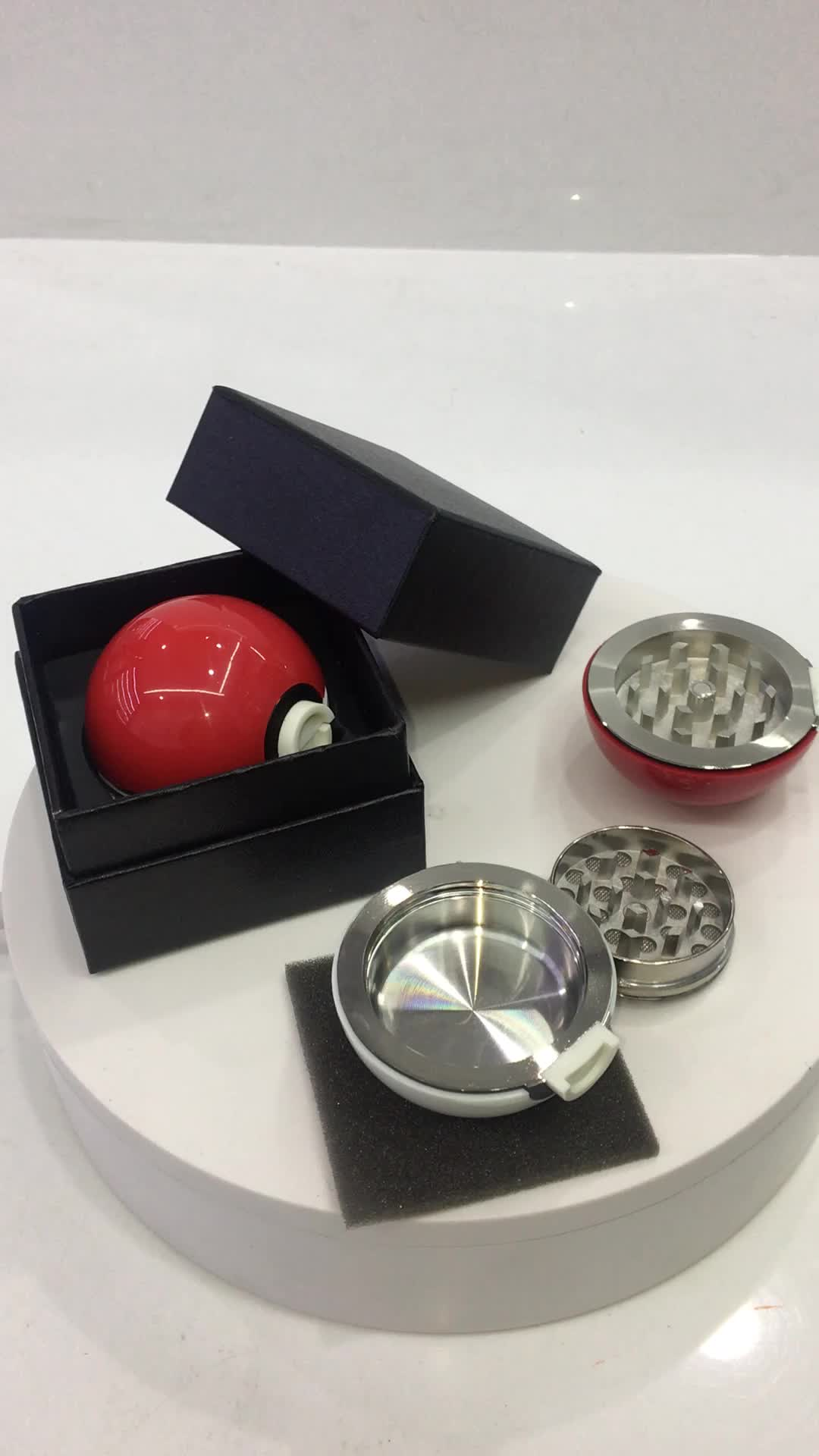New Herb Pokemon Pokeball Tobacco Herb Grinder Supplies Accessories