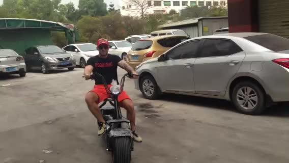2018 nuovo modello di promozione fat tire 1500 w scrooser e-bike citycoco adulto elettrico del motorino del motociclo 2 posti elettrica scooter
