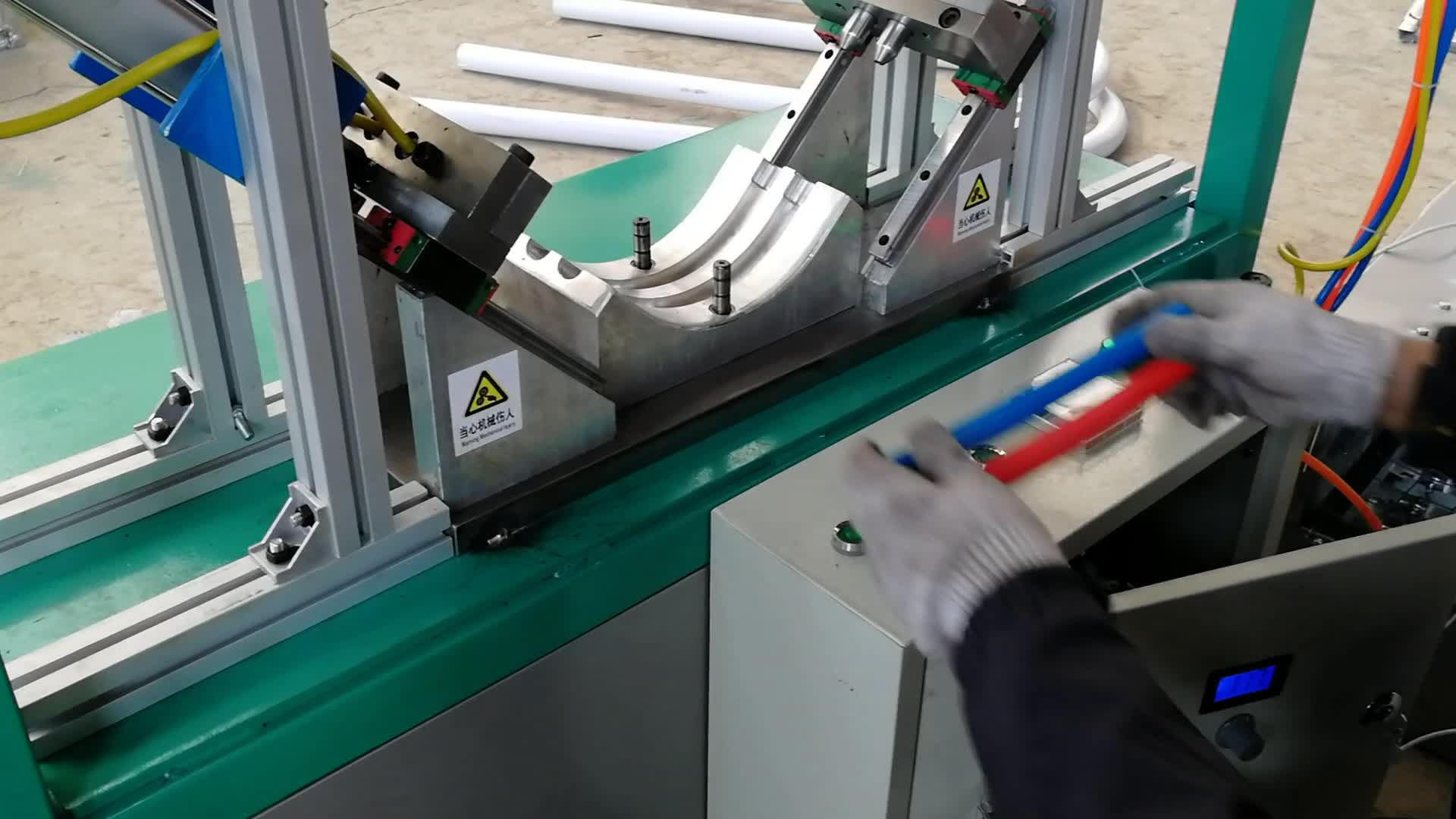 Personalizzato Manuale Riscaldamento WG-1602 Manuale PVC Utilizzato Curvatubi Macchina