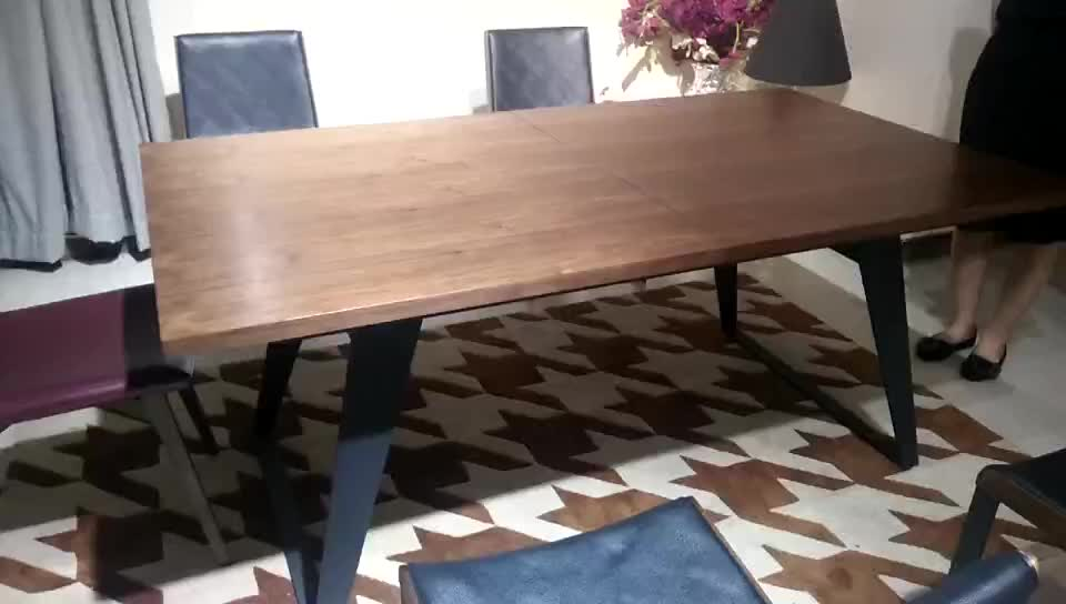 Hot Selling Extentional Seater Dining Table With Walnut Solid - 12 seater solid wood dining table
