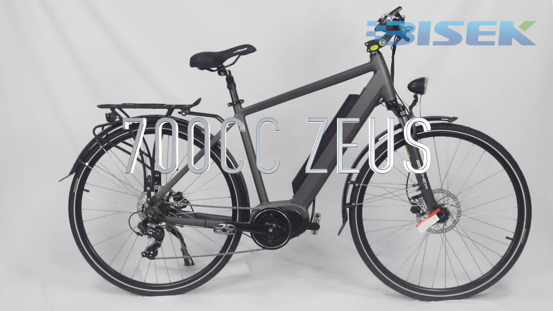 Portable electric city bike with bafang mid drive motor and samsung lithium battery