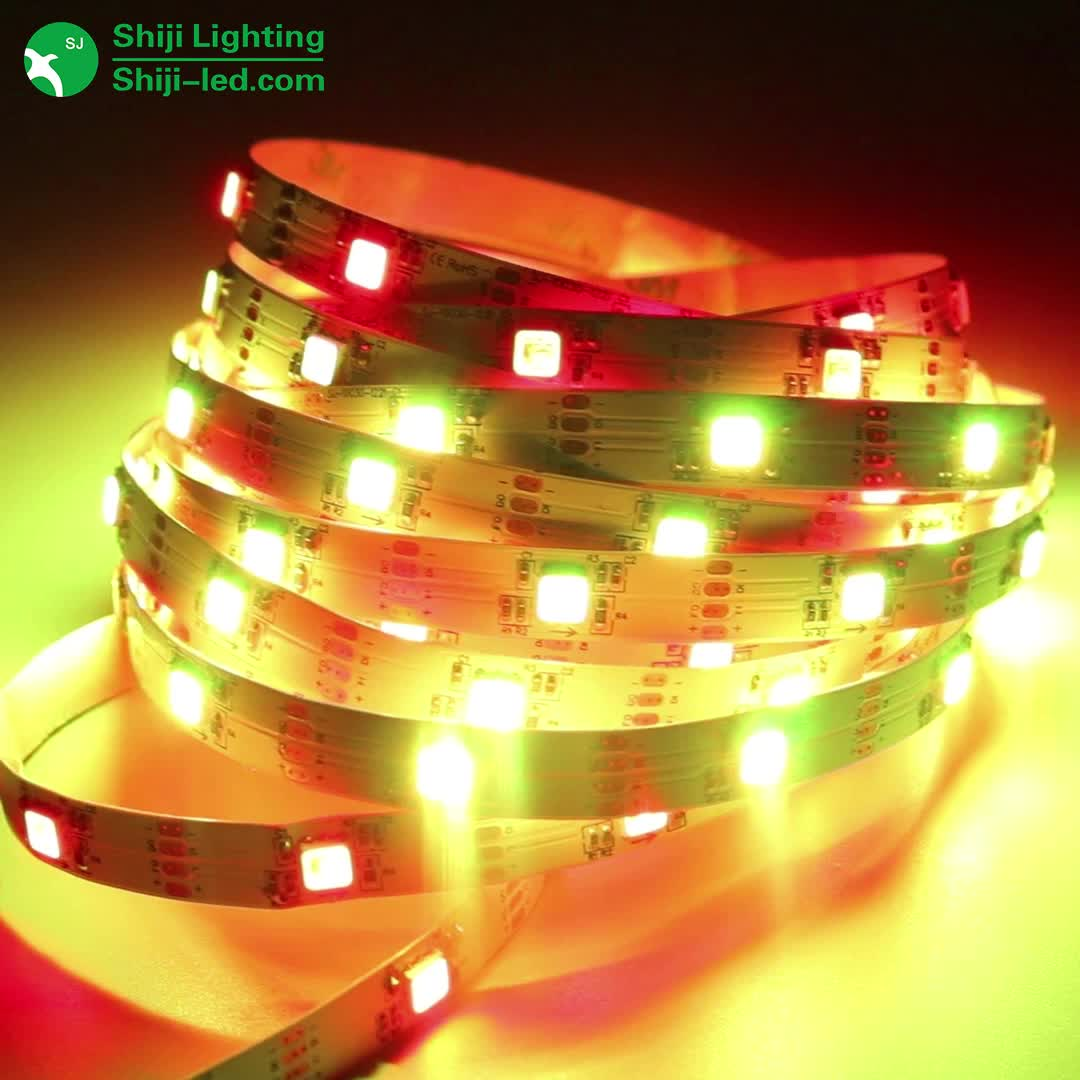 12V individually addressable SJ1221 rgb illume pixel 30LED Multi color music Changing flexible strip map lighting