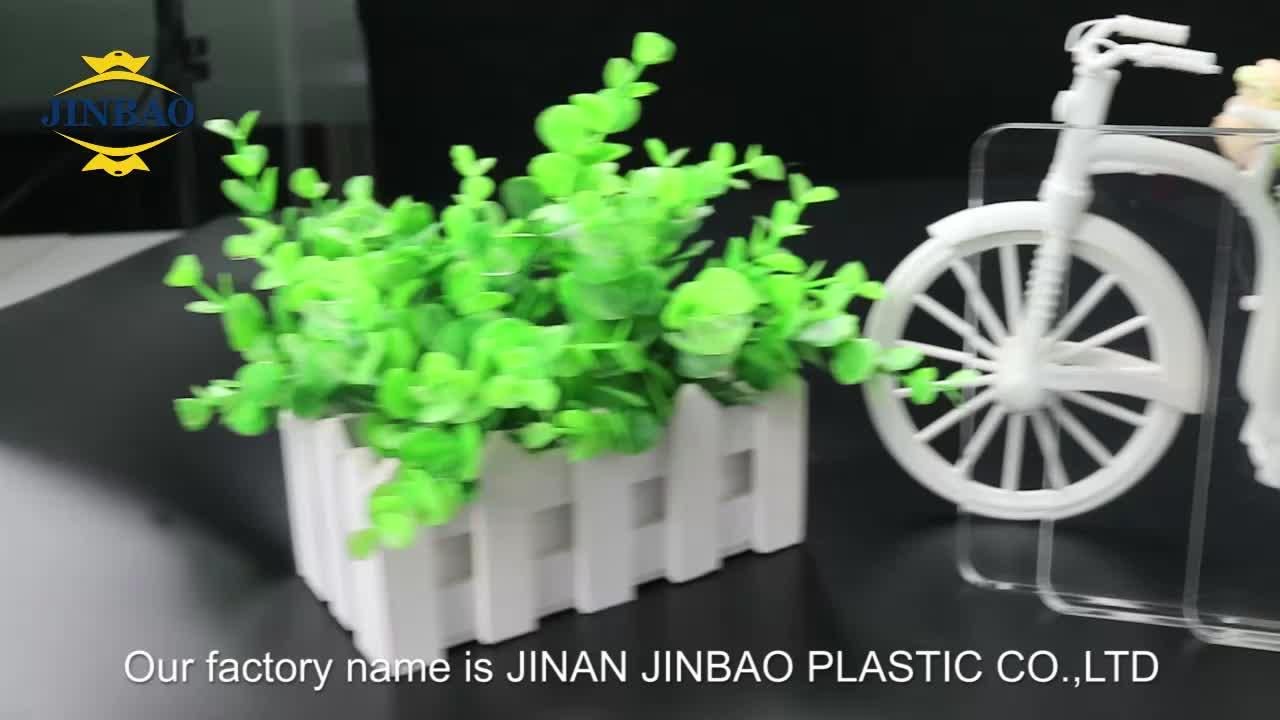 JINBAO transparent coulé acrylique feuille de verre 3mm 4mm panneau de plexiglas publicité prix