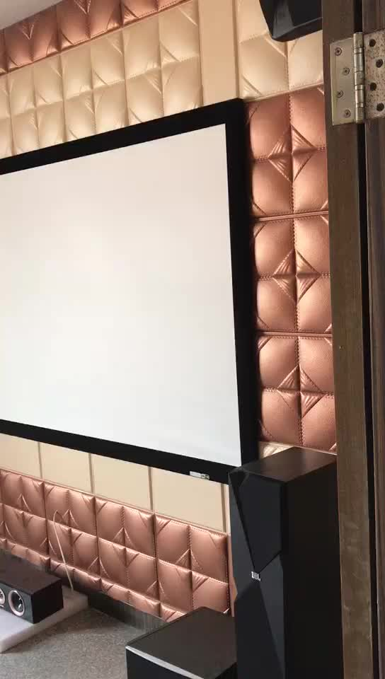 pvc faux leather wall panels waterproof 3d panel material for walls