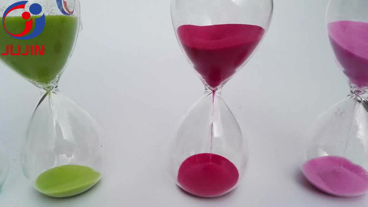 Glass Sand Timer Hourglass Magnet Sand Timer Promotional Gifts
