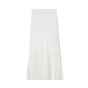 白色秋冬2021新款垂感显瘦半身裙