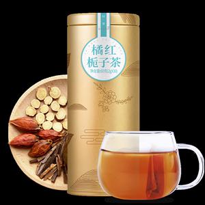 绿润堂橘红栀子茶茶