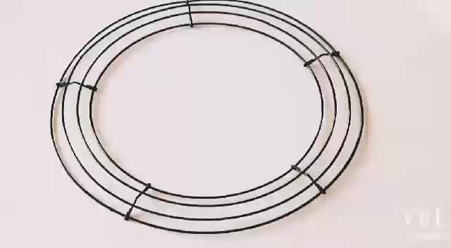 12 Inch Clamp Style Floral Garden Metal Wire Small Wreath