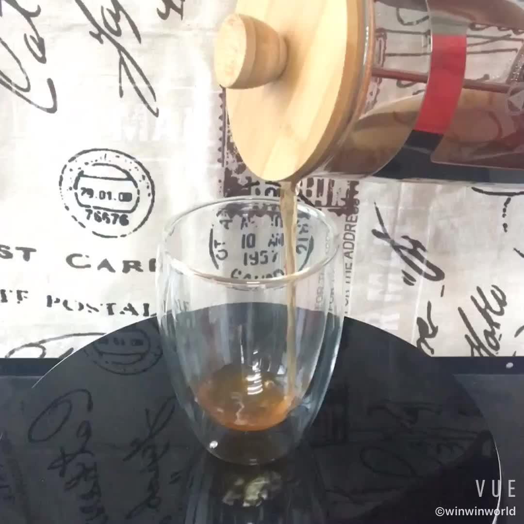 Borostilicatglas French Press Tee Kaffeemaschine