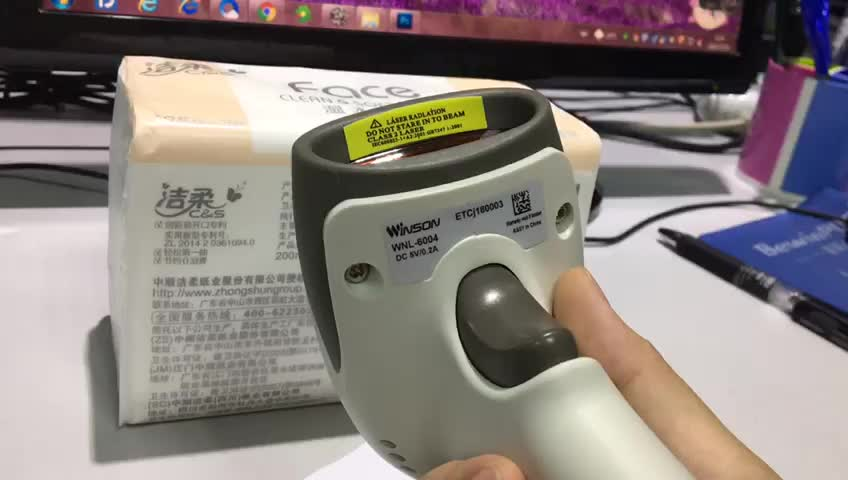 Portable Mini Bluetooth Barcode Scanner for Android Tablet