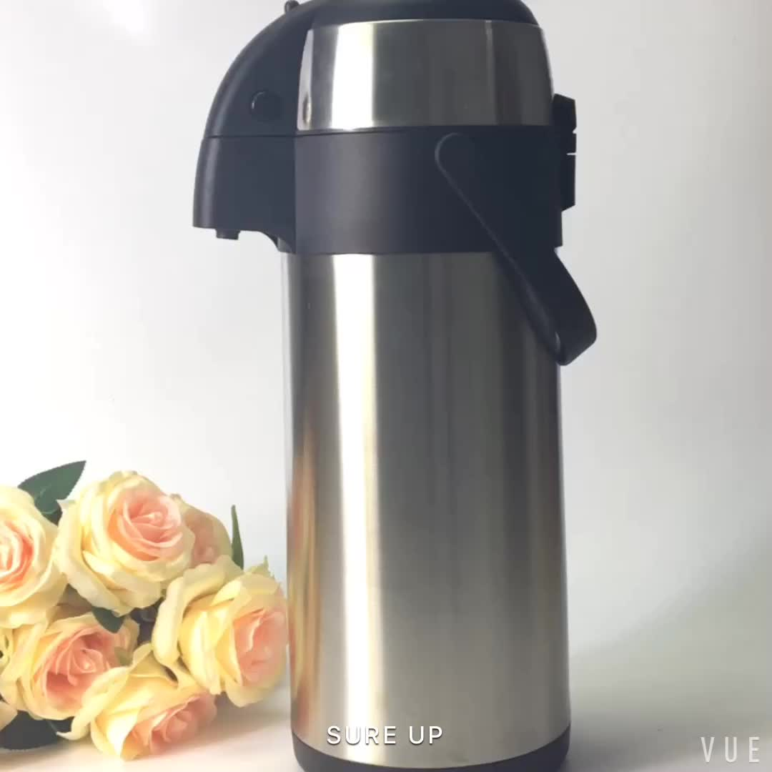 Stainless steel double wall thermos vacuum coffee water dispenser pot