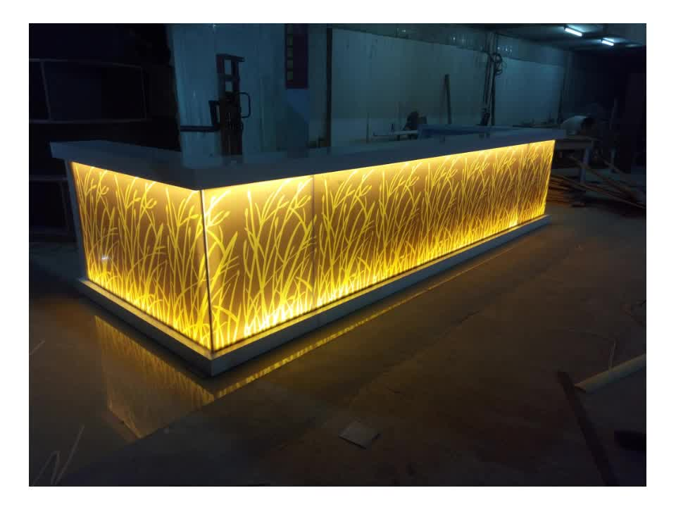artificial stone solid surface night led light bar led outdoor bar comptoir bar professionnel. Black Bedroom Furniture Sets. Home Design Ideas