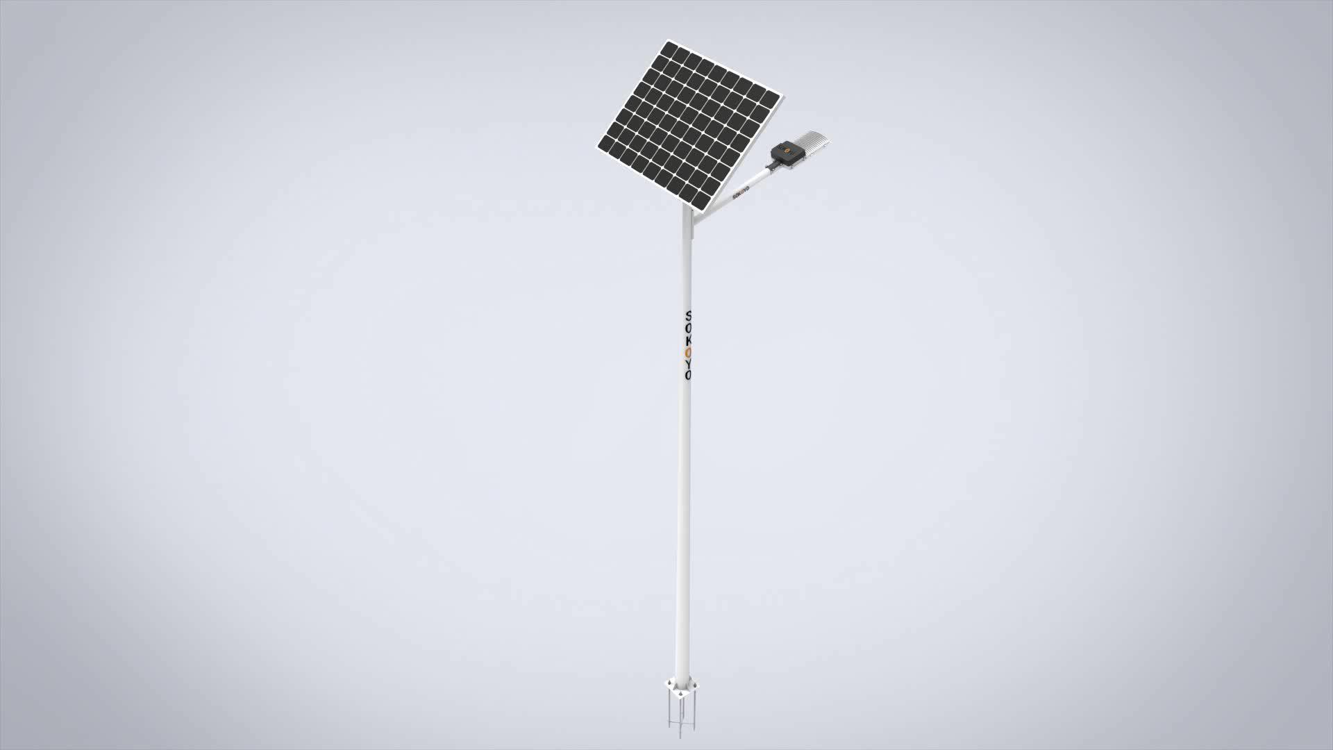 CE RoHS Led de Alta Potência Rua Luz Solar IP65 40W energia solar luz de rua