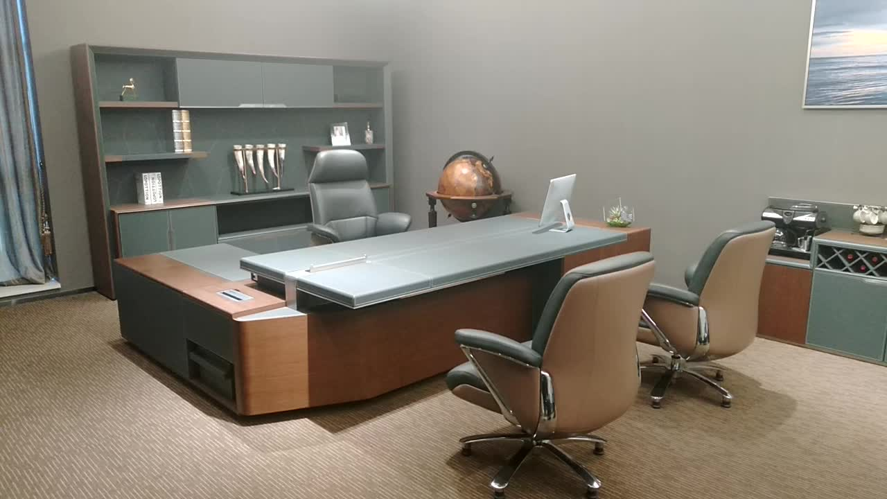 Top Rated Modern Executive Desk Luxury Office Furniture W68 Ceo Boss Table Foshan