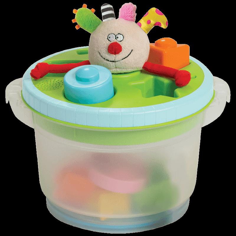 以色列TAFTOYS儿童玩具积木塑料拼装收纳音乐盒拼装玩具益智玩具
