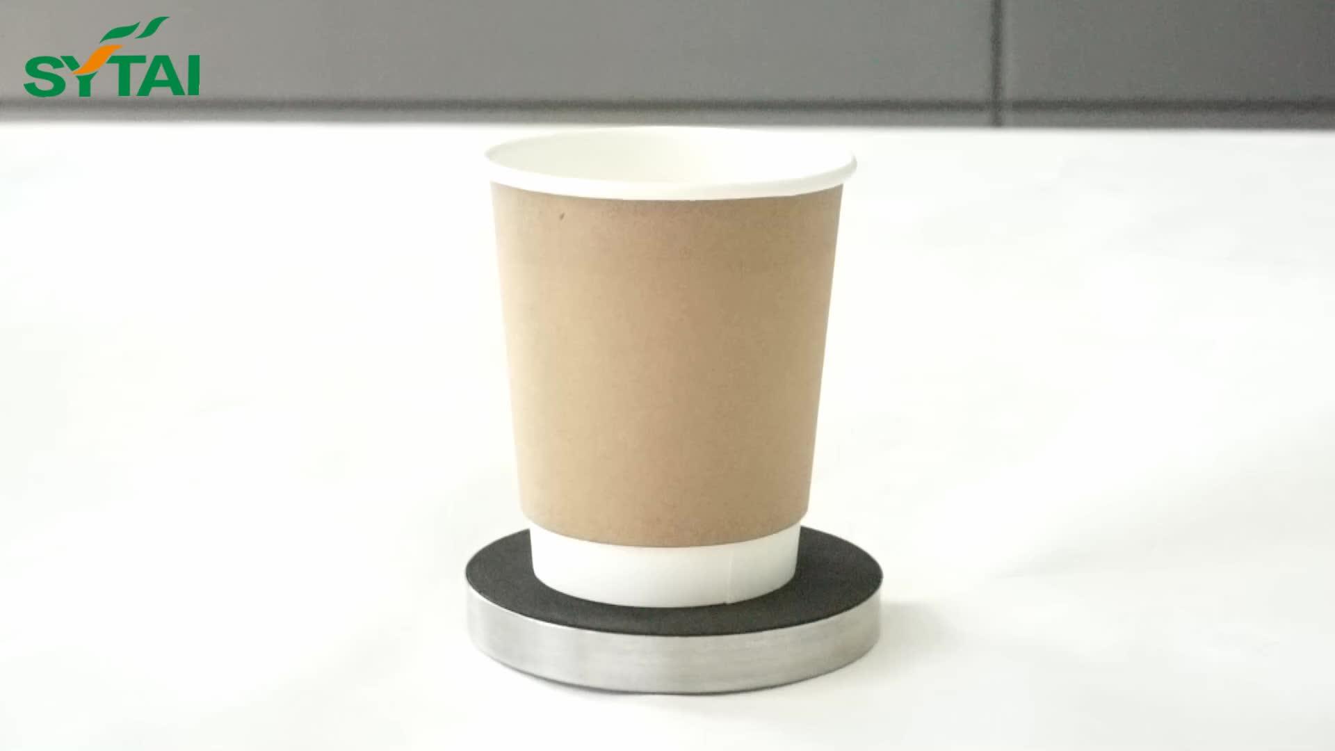 Logo gedrukt dubbele muur pe gecoat takeaway koffie paper cup