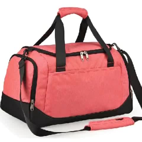 Durable polyester ladies travel camping sports bag