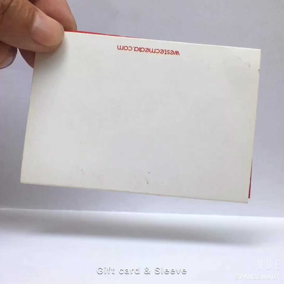 Personalizar cero panel de pvc titular de la tarjeta de regalo tarjetas de plástico mangas
